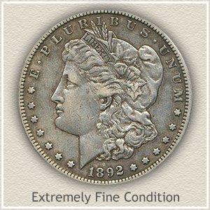 Morgan Silver Dollar Extremely Fine Condition