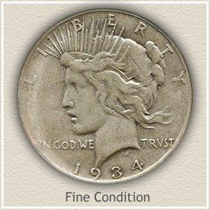 Peace Silver Dollar Fine Condition