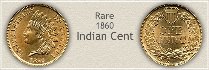 Rare 1860 Indian Penny
