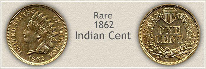 Rare 1862 Indian Penny