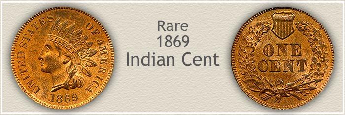 Rare 1869 Indian Penny