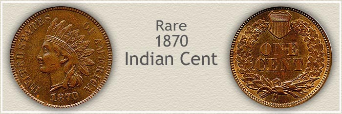 Rare Uncirculated 1870 Indian Penny