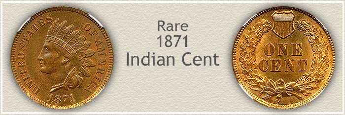 Rare 1871 Indian Penny