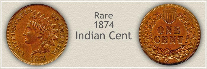 Collectible 1874 Indian Penny
