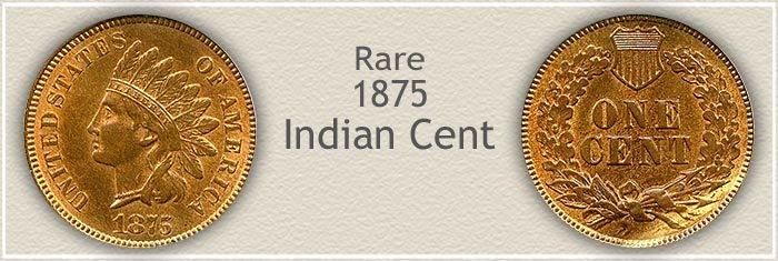Rare 1875 Indian Penny