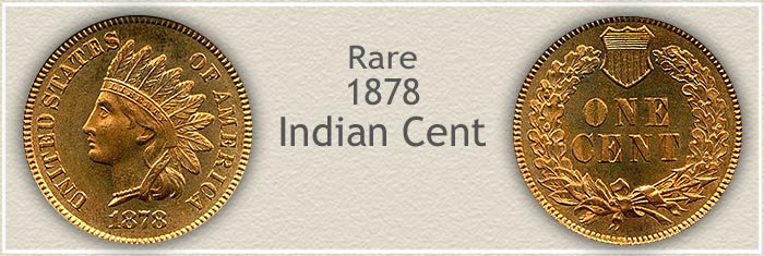Rare 1878 Indian Penny