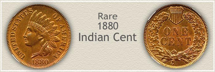 Rare 1880 Indian Penny