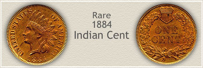 Rare 1884 Indian Penny