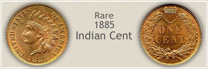 Rare 1885 Indian Penny