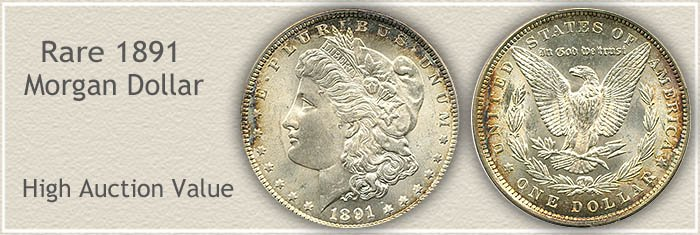 Rare 1891 Morgan Silver Dollar