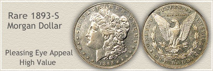 Rare 1893-S Morgan Silver Dollar