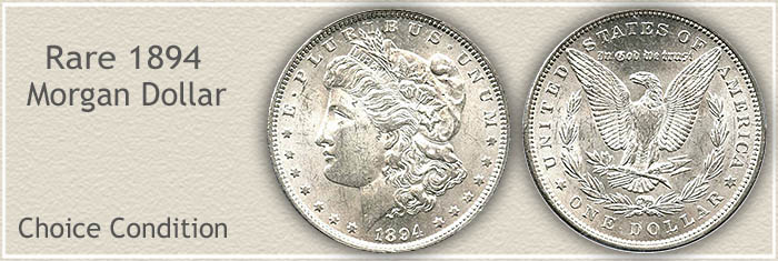 Rare 1894 Morgan Silver Dollar