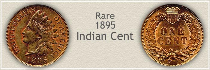 Rare 1895 Indian Penny
