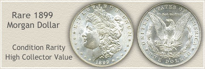 Rare 1899-S Morgan Silver Dollar