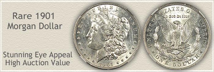 Rare 1901 Morgan Silver Dollar