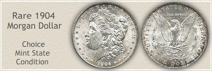 Rare 1904-S Morgan Silver Dollar