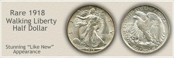 Rare 1918 Half Dollar