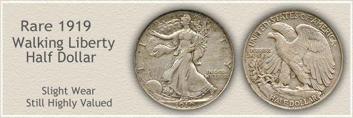 Rare 1919 Half Dollar