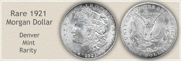 Rare 1921-D Morgan Silver Dollar
