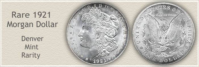 Rare 1921 D Morgan Silver Dollar