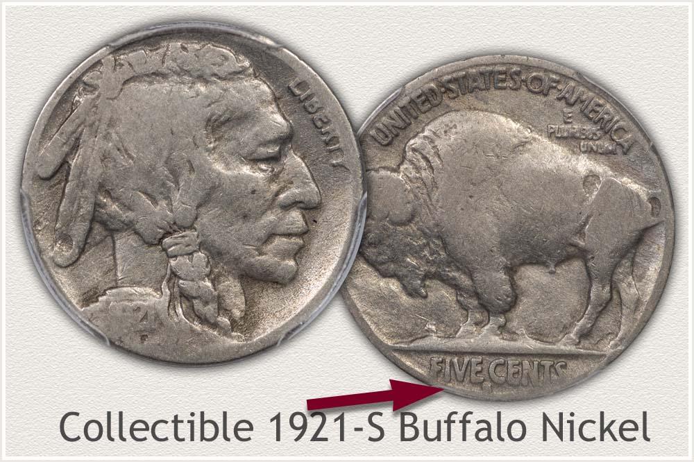 1921-S Buffalo Nickel