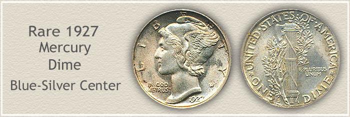 Rare 1927 Mercury Dime