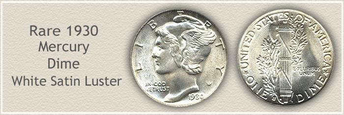 Rare 1930 Mercury Dime