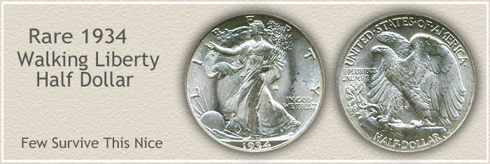 Rare 1934 Half Dollar