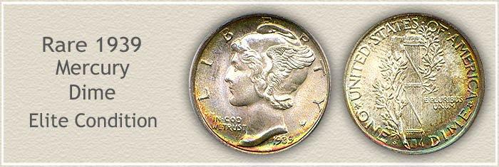 Rare 1939 Mercury Dime
