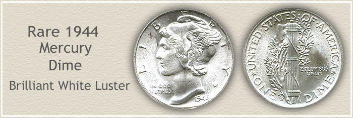 Rare 1944 Mercury Dime