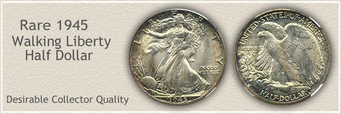 Rare 1945 Half Dollar