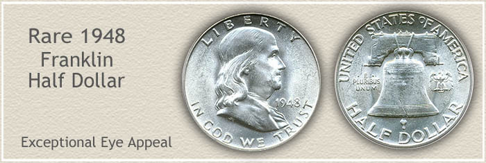 Rare 1948 Franklin Half Dollar