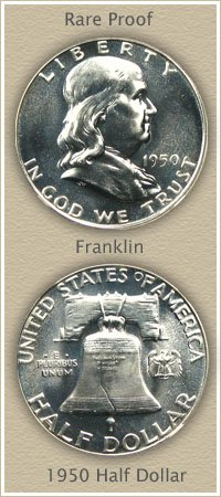 Rare 1950 Franklin Half Dollar