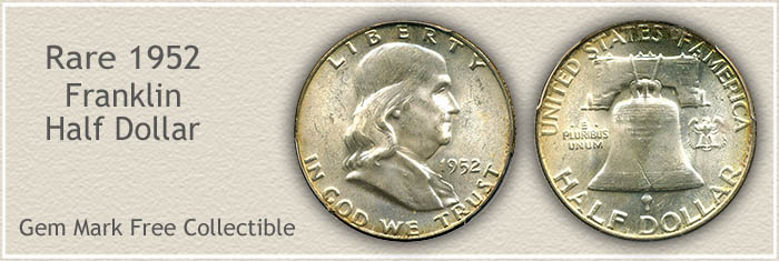 Rare 1952 Franklin Half Dollar