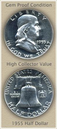 Rare 1955 Franklin Half Dollar