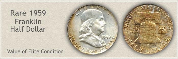 Rare 1959 Franklin Half Dollar
