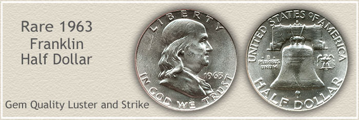 Rare 1963 Franklin Half Dollar