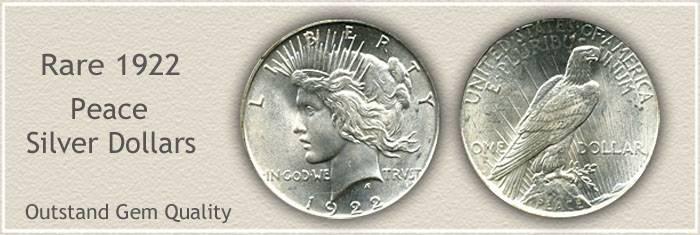 Conditionally Rare 1922 Peace Silver Dollar
