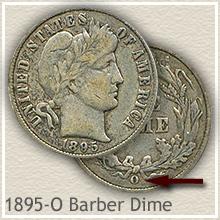 Rare 1895-O Barber Dime