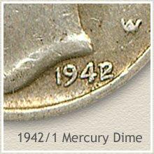 Rare 1942/1 Mercury Dime