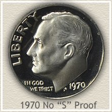 Rare 1970 Proof No S Roosevelt Dime