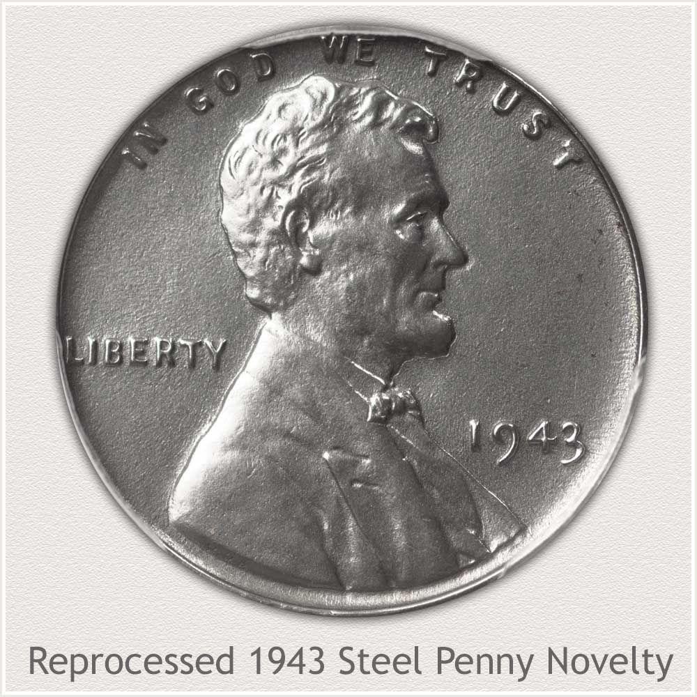 1943 Reprocessed 1943 Steel Cent