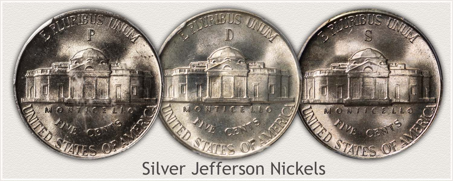 Silver Nickel Mintmarks on Reverse