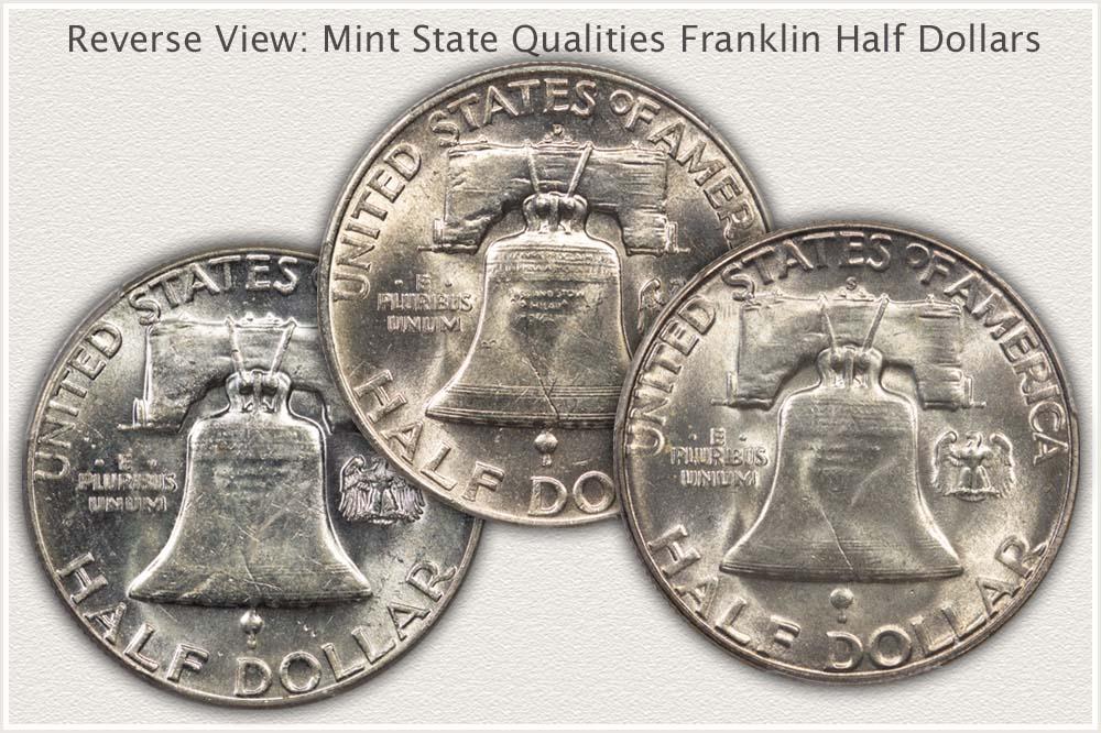 Quality Levels Reverse Mint State Franklin Half Dollars
