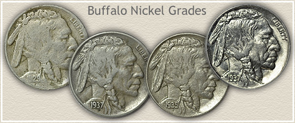 Different Grades of Buffalo Nickels