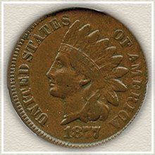 Rare 1877 Indian Penny