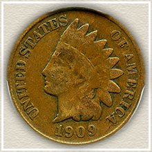 Rare 1909-S Indian Penny