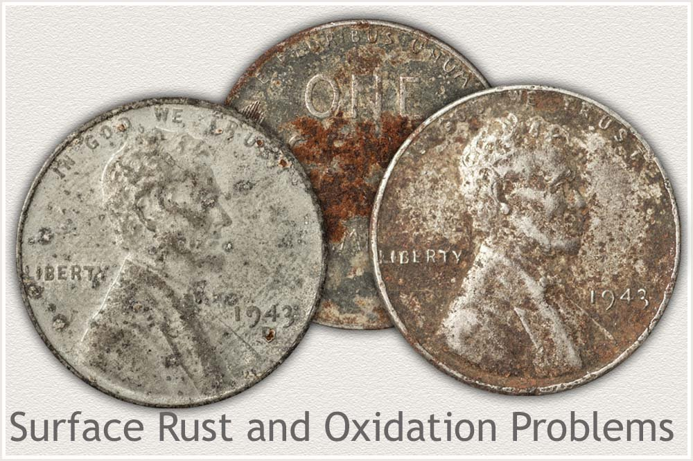 Rusted and Oxidized 1943 Steel Cents