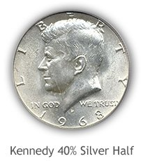 Kennedy 40% Silver Half Dollar Values