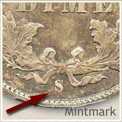 Seated Dime Mintmark Location 1860-1891